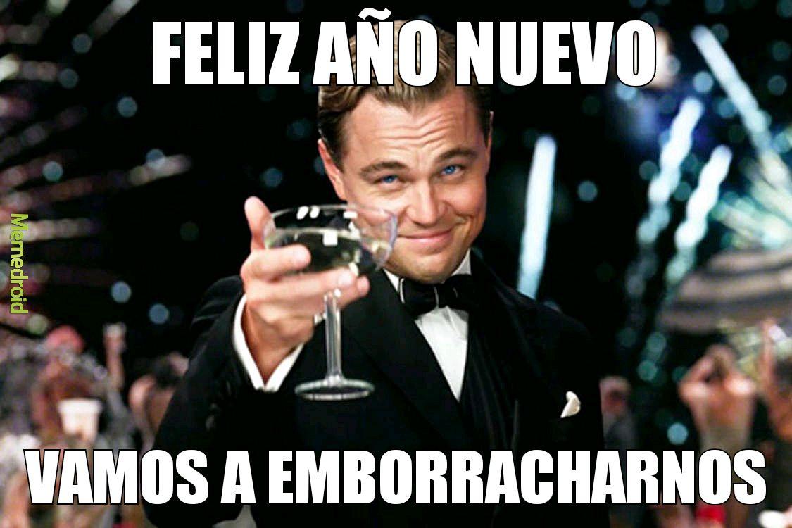 DiCaprio feliz año nuevo meme